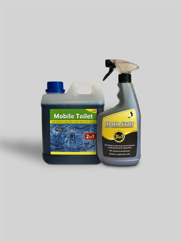 Mobile Toilet 2 litry + odor stop